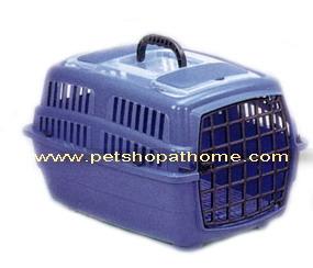 กรงเดินทางสำหรับสัตว์เลี้ยง - เปิดด้านบนและ ด้านหน้า (มีสีฟ้าและชมพูค่ะ)