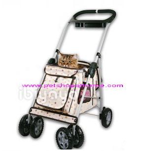 Ibiyaya รถเข็นสำหรับสัตว์เลี้ยง - Pet Buggy Stroller Monogram
