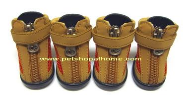 รองเท้าสุนัข - มีไซส์เล็ก-ใหญ่ค่ะ (มีสีแดง, น้ำตาล, ชมพู และดำค่ะ)