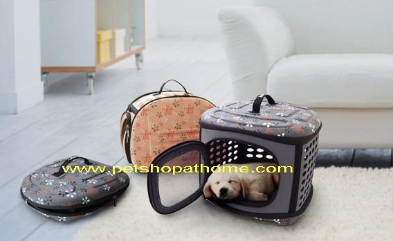 กระเป๋าใส่สัตว์เลี้ยงพับเก็บได้ - มีสีชมพู และเทาค่ะ