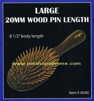 Christensen Oval Wood Pin Brush - ซี่แปรงทำจากไม้ 20 mm. ขนาดใหญ่