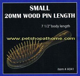 Christensen Oval Wood Pin Brush - ซี่แปรงทำจากไม้ 20 mm. ขนาดเล็ก