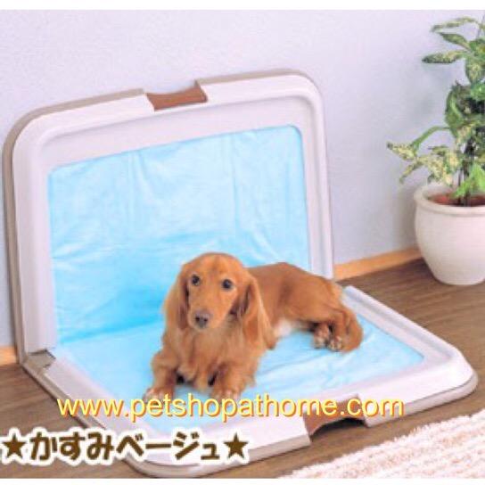 ห้องน้ำสุนัขปรับตั้งฉากได้ (เหมาะสำหรับสุนัขตัวผู้ และสุนัขขนาดกลาง) มี 2 สีค่ะ