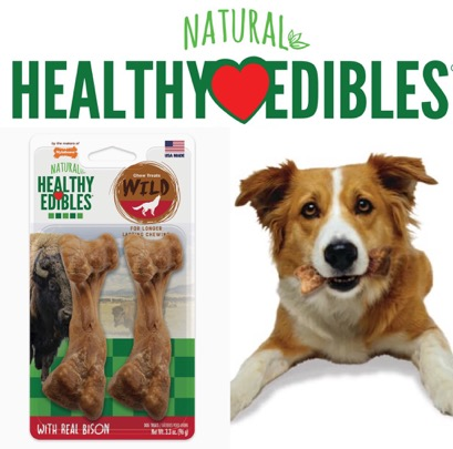 Nylabone Chew Treats Wild ขนมขัดฟัน ของเล่นขัดฟัน Bison - Medium
