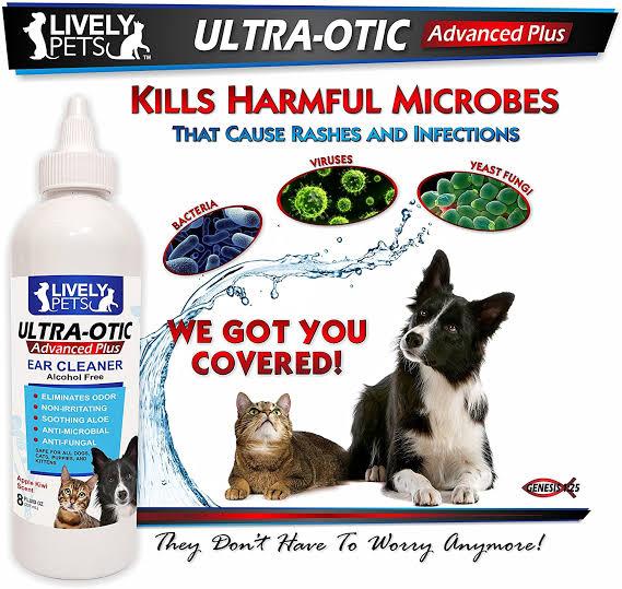 Lively Pets Ultra Otic น้ำยาเช็ด และทำความสะอาดหู