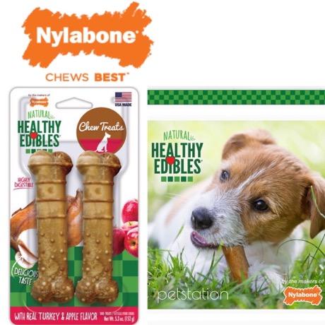 Nylabone Chew Treats ขนมขัดฟัน Turkey  Apple