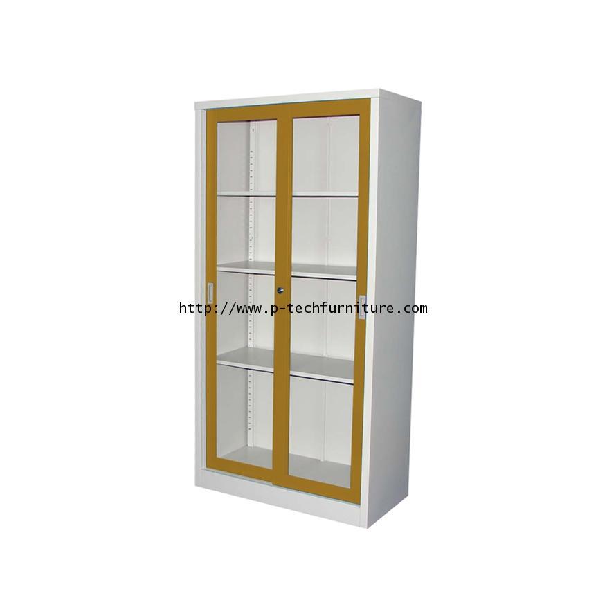 ตู้บานเลื่อนกระจกสูง รุ่น KWG-183-EG