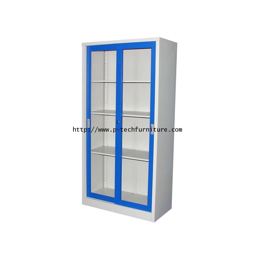 ตู้บานเลื่อนกระจกสูง รุ่น KWG-183-RG