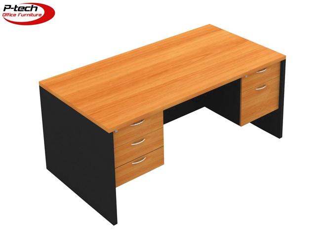 โต๊ะทำงาน3ลิ้นชักซ้าย2ลิ้นชักขวา (S-1532  -  S-1832)