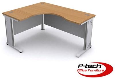 โต๊ะทำงานโล่งเข้ามุมขาเหล็ก EX1 - R