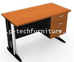 โต๊ะทำงานขาเหล็ก 3 ลิ้นชักซ้าย-ขวา (SS1-1203,SS1-1230 - SS1-1803,SS1-1830)