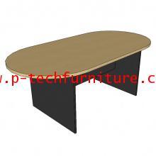 โต๊ะประชุมรูปวงรี ขาไม้ รุ่น ST