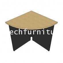 ตัวต่อโต๊ะประชุมรูปวงรีขาไม้
