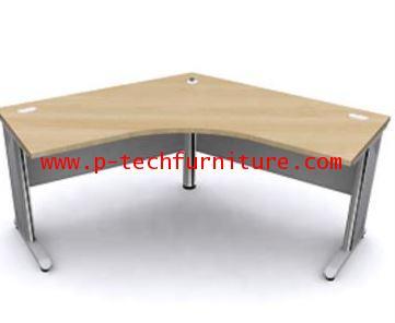 โต๊ะทำงานโล่งเข้ามุมขาเหล็ก SS1-10100