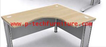 โต๊ะทำงานโล่งเข้ามุมขาเหล็ก EX1 - L