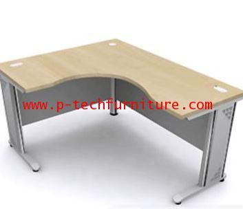 โต๊ะทำงานโค้งเข้ามุมขาเหล็ก EX2 - R