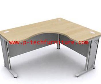 โต๊ะทำงานโค้งเข้ามุมขาเหล็ก EX2 - L