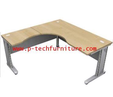 โต๊ะทำงานโค้งเข้ามุมขาเหล็ก EX3 - R