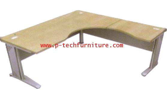โต๊ะทำงานโค้งเข้ามุมขาเหล็ก EX3 - L
