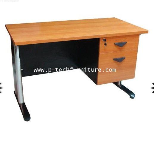 โต๊ะทำงานขาเหล็ก 2 ลิ้นชักซ้าย-ขวา (SS1-1202,SS1-1220  -  SS1-1802,SS1-1820)