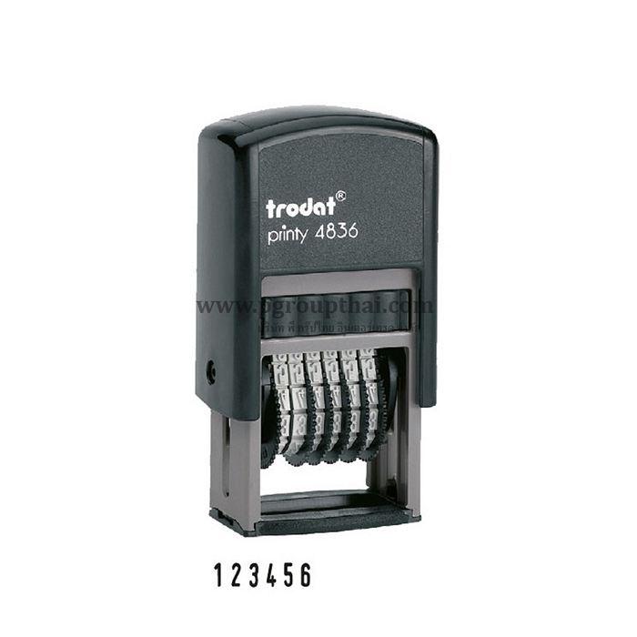ตรายางตัวเลขปรับได้ 6 หลัก 3.8 มม. Trodat4836 หมึกในตัว
