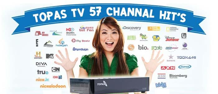 TOPAS TVเคเบิลอินโด 57ช่อง