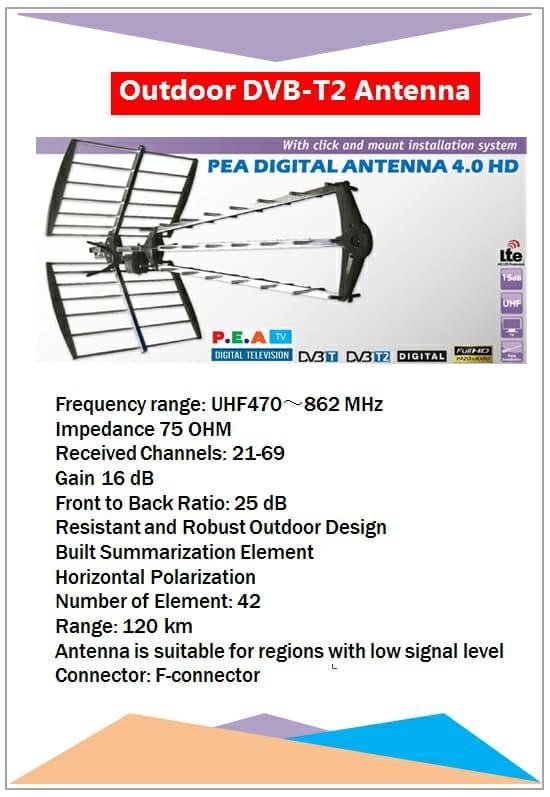 PEA แผงดิจิตอลทีวีสำหรับงานระบบทีวีสำหรับงานระบบทีวี 3