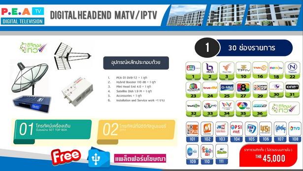 ระบบทีวีสำหรับโรงแรม ช่องทีวีไทย+ช่องต่างชาติ 4