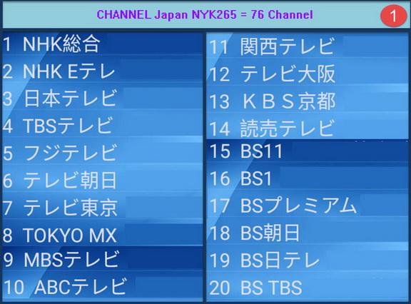IPTV Japan MYK H265 + VOD = 76 Ch รายการชัดเจนมาก เหมาะสำหรับพืนที่ที่ internet มีความเร็ว 1