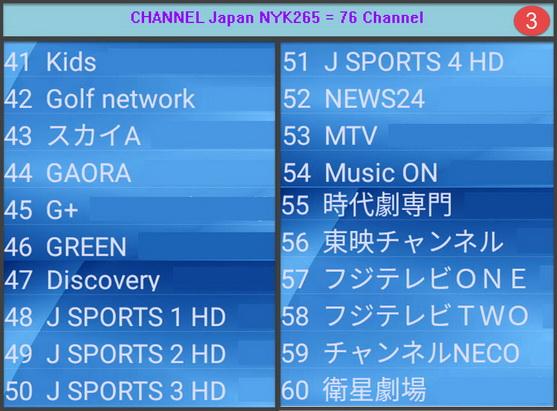 IPTV Japan MYK H265 + VOD = 76 Ch รายการชัดเจนมาก เหมาะสำหรับพืนที่ที่ internet มีความเร็ว 3