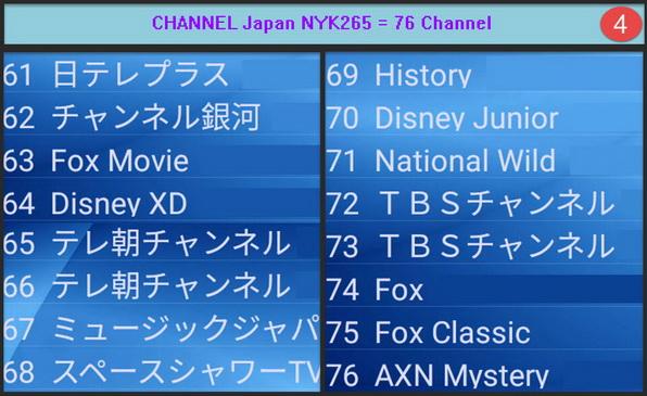 IPTV Japan MYK H265 + VOD = 76 Ch รายการชัดเจนมาก เหมาะสำหรับพืนที่ที่ internet มีความเร็ว 4