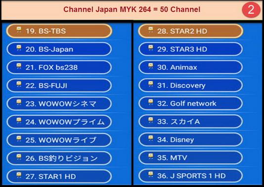 IPTV Japan MYK 264 + VOD สามารถดูรายการได้ 50 ช่องรายการ กินสัญญาณ internet ไม่มาก 2