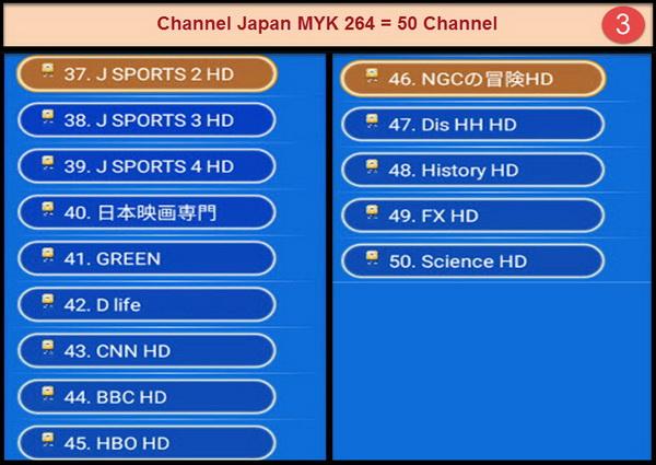 IPTV Japan MYK 264 + VOD สามารถดูรายการได้ 50 ช่องรายการ กินสัญญาณ internet ไม่มาก 3