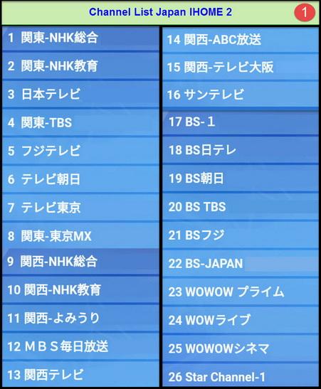 IPTV JAPAN IHOME 2 ดูญี่ปุ่นผ่านอินเตอร์เน็ต  83 ช่อง และมี VOD ดูทีวีญี่ปุ่นสดๆและดูย้อนหลัง 1