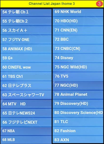 IPTV JAPAN IHOME 2 ดูญี่ปุ่นผ่านอินเตอร์เน็ต  83 ช่อง และมี VOD ดูทีวีญี่ปุ่นสดๆและดูย้อนหลัง 3