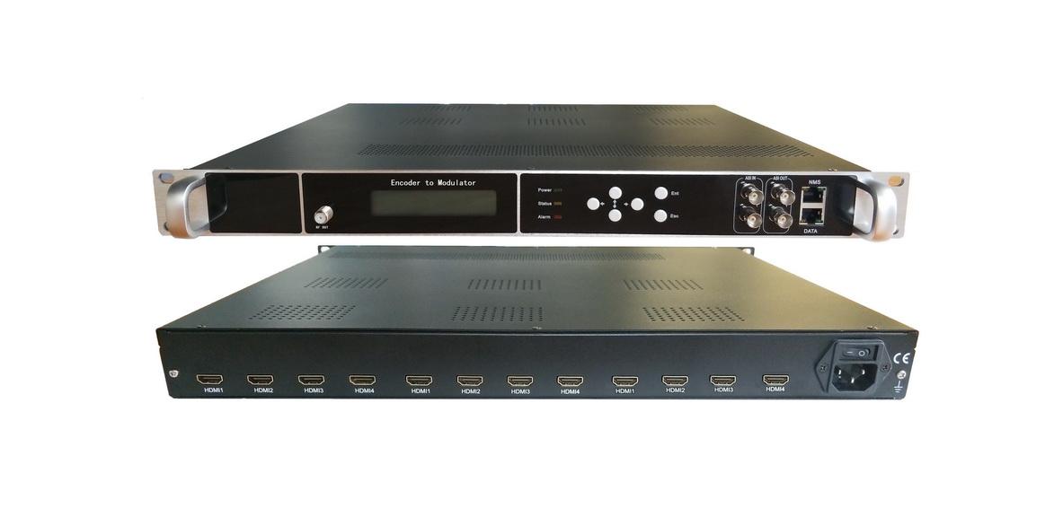 ENCODER Modulatar Digital DVB T INPUT 12 HDMI อุปกรณ์แปลงสัญญาณ HDMI