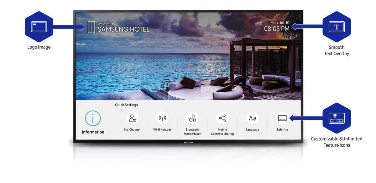 ทีวีสำหรับโรงแรม Hotel TVSUMSUNG HOSPITALTY TV 1
