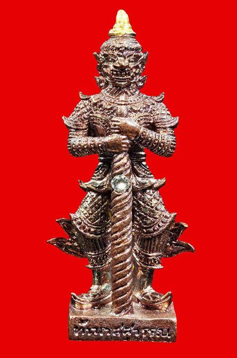ท้าวเวสสุวรรณ ๑๒ อธิบดี  วัดราษฏร์บรรจง อยุธยา เนื้อทองแดงรุ้ง