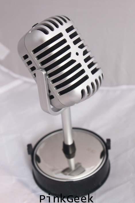 ไมค์โคโฟนโบราณ ไมโครโฟน DJ