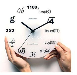 GeekCook นาฬิกาสูตรคณิต