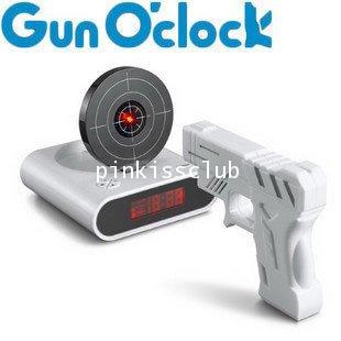 นาฬิกาปลุกยิงปืน Laser Target Alarm Clock