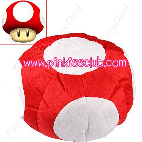 หมวกเห็ดนุ่มนิ่ม Mario Cap Mushroom