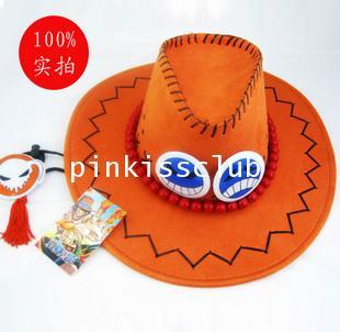 หมวกเอส แบบกำมะหยี่ หมวกวันพีช ACE Cap Onepiece