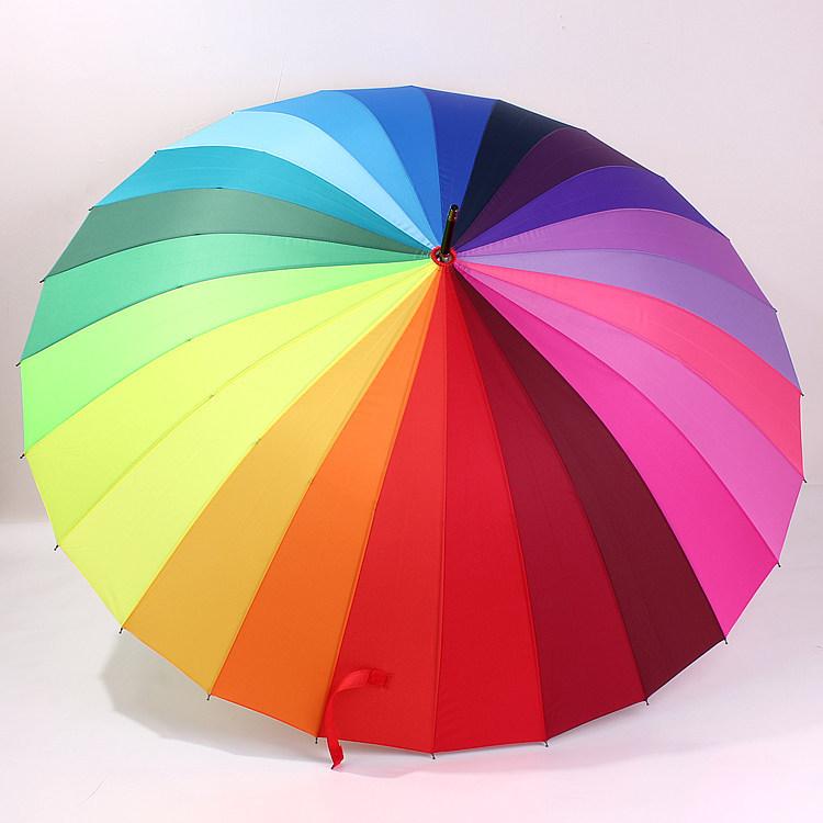 ร่มสายรุ้ง ร่มสีรุ้ง 24 สี (Rainbow Umbrella)