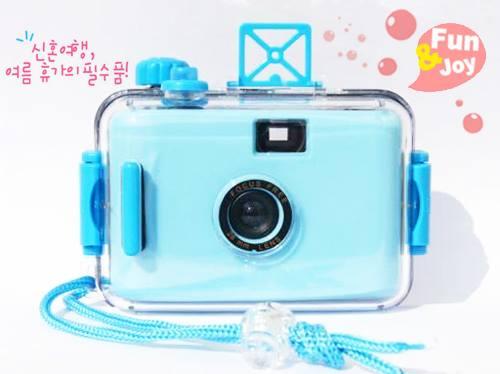กล้องกันน้ำสีฟ้า