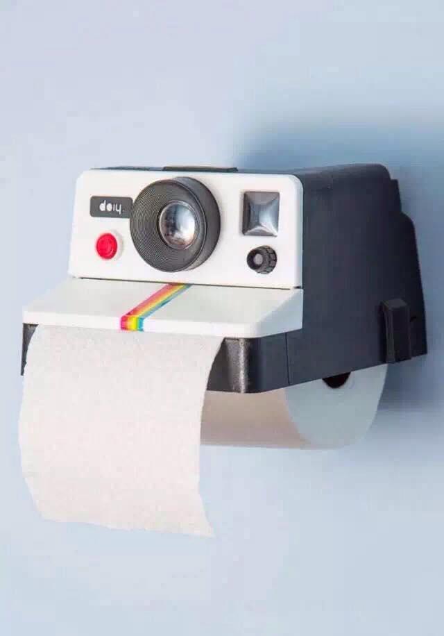 กล่องทิชชู่ กล่องเก็บกระดาษทิชชู่ รูปกล้องโพลาลอยด์ Polaroll