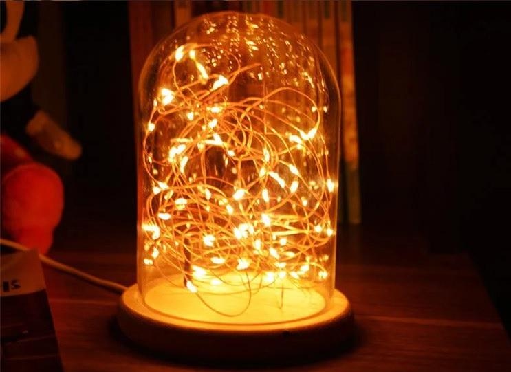 โคมไฟในโหลแก้ว โคมไฟโรแมนติก