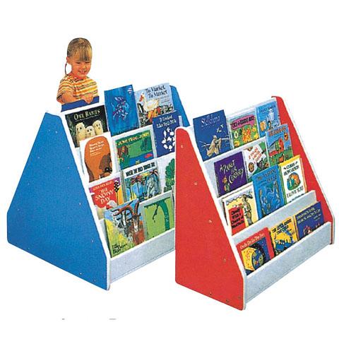 ชั้นวางหนังสือเด็กโชว์ปกหน้าหนังสือ รุ่นเล็ก ไม้จริง สีเลือกได้ตามต้องการ