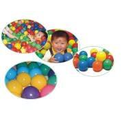 ลูกบอลพลาสติกหลากสีสรรค์สำหรับเด็กเสริมพัฒนาการ ยืดยุ่นดี นุ่มนิ่ม ขนาดเล็ก ใหญ่สั่งผลิตได้โรงงานเอง