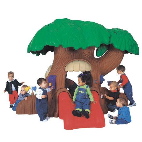 บ้านต้นไม้ขายส่งของเล่นเด็กสไลด์เดอร์บ้านต้นไม้ เครื่องเล่นสนาม ฝึกทึกษะ บ้านพลาสติก ของเล่นพลาสติก